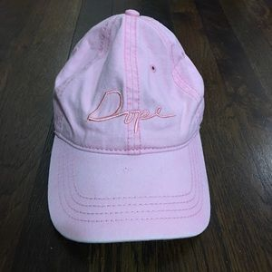 Embroidered pink DOPE forever 21 hat